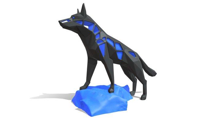 Voronoi German Shepherd Rock 3D Model