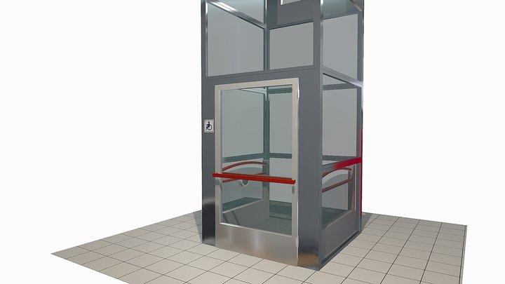 ПОДЪЕМНИК вертикальный для инвалидов 3D Model