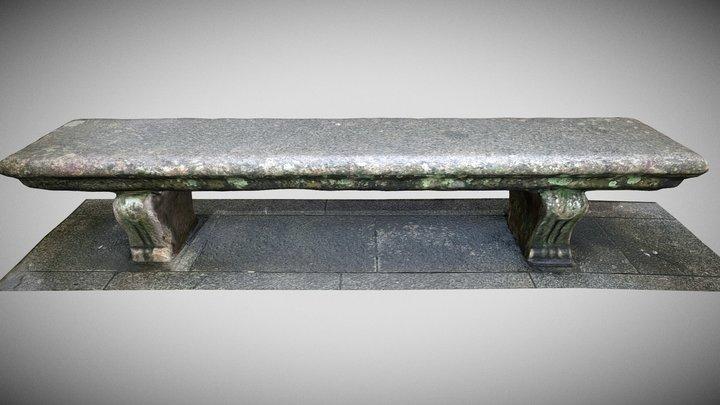 Bench Stone . Banco de Piedra 3D Model