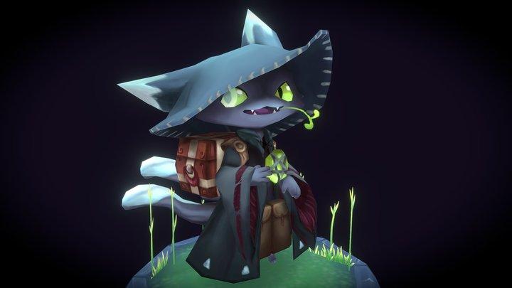 Magic Merchant Cat 3D Model