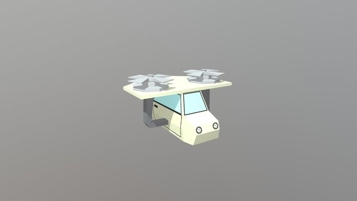 Carro Voador 3D Model