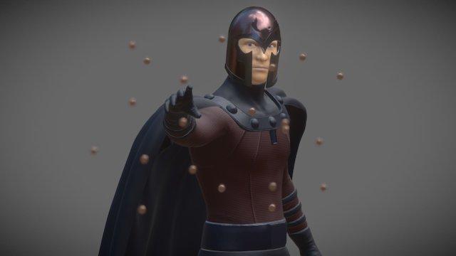 Magneto, The Master of Magnetism 3D Model