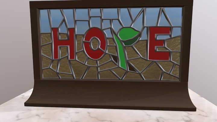 Stained Glass Hope 3 3D Model