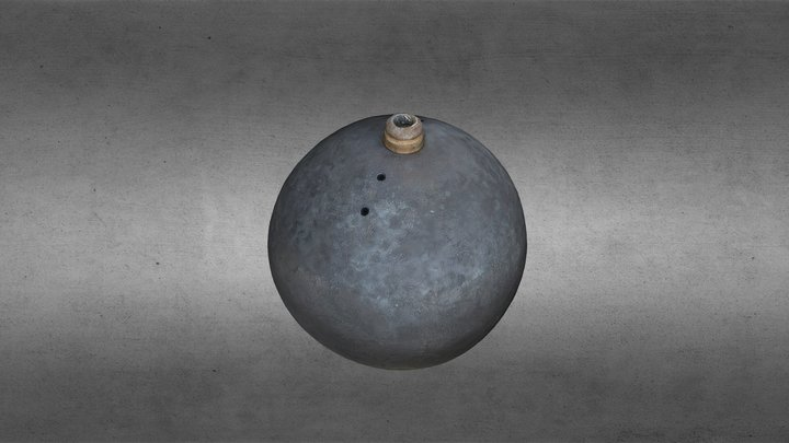 Grenade from the 17th cent. ship DANNEBROGE 3D Model