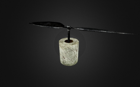 Flying Toiletpaper 3D Model