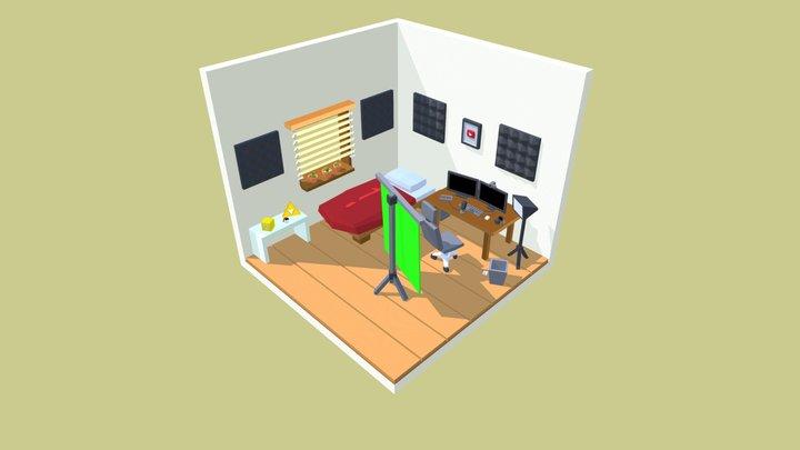 Isometric Room [Youtuber] 3D Model