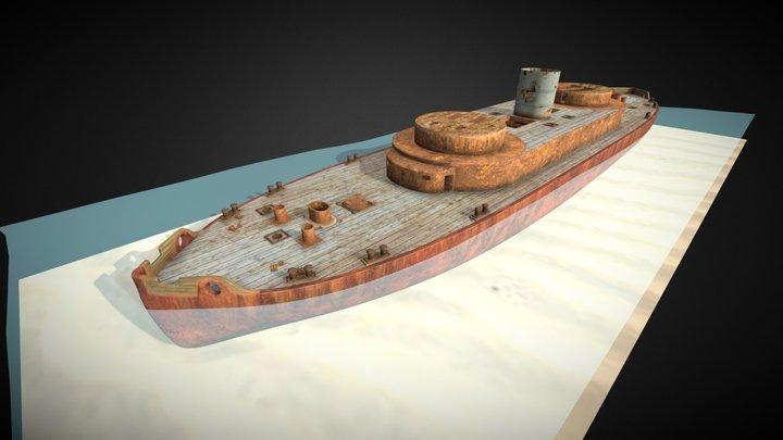 HMVS Cerberus Wreck 3D Model