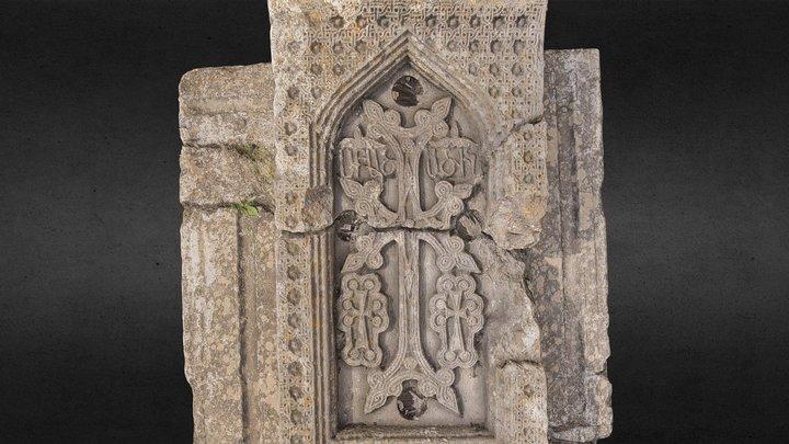 Tatev Monastry - Tombal Stone 3D Model
