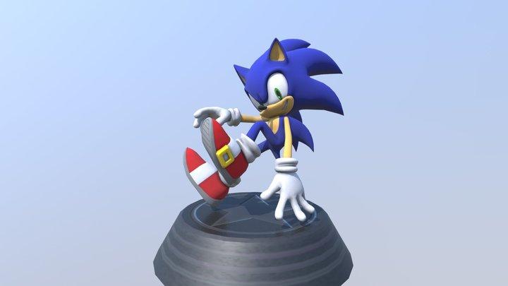 Sonic Generations - Modern Sonic Statue 3D Model