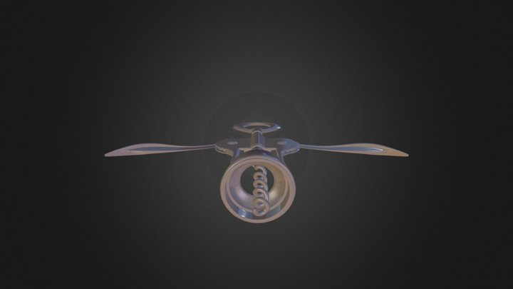 Cork Screw 3D Model