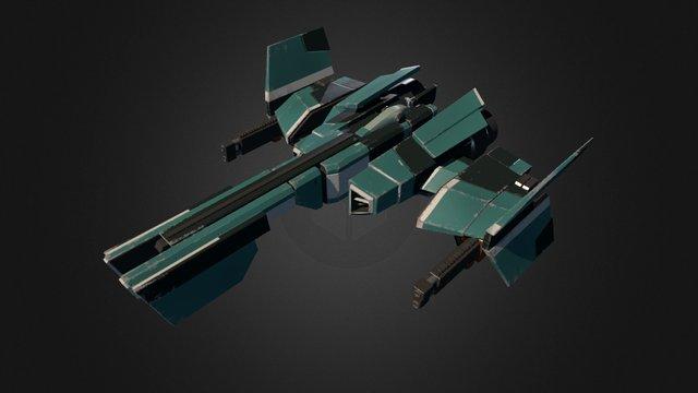 Sci-fi Racing Vehicle 3D Model