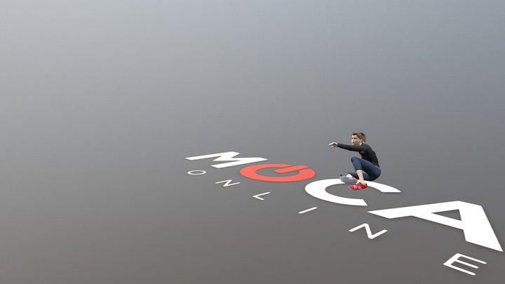 Daz3D Scared! Animation P1 - Victoria 8 3D Model