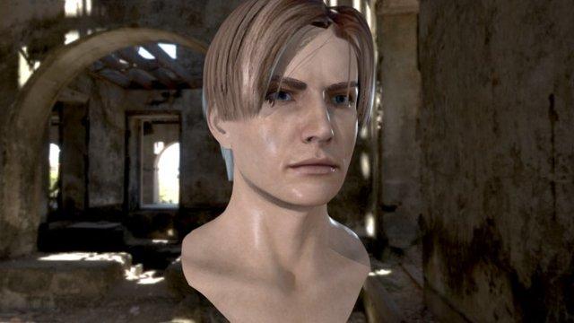 3d model human head male v6 3D Model