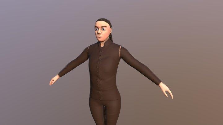 Arya Stark - Game of Thrones Low Poly 3D Model