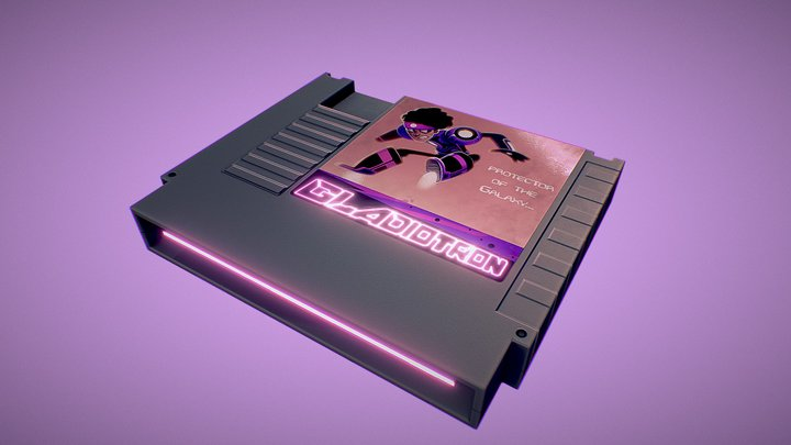 Gladiotron Game Cartridge 3D Model