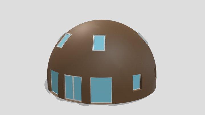 """3d Dome 11m UAB """"SFEROS"""" 3D Model"""
