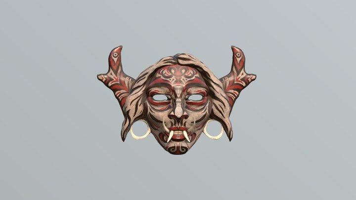 Borneo mask selfportrait v2 3D Model