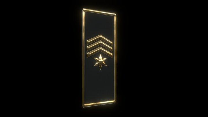 Procedural Military Badges 3D Model