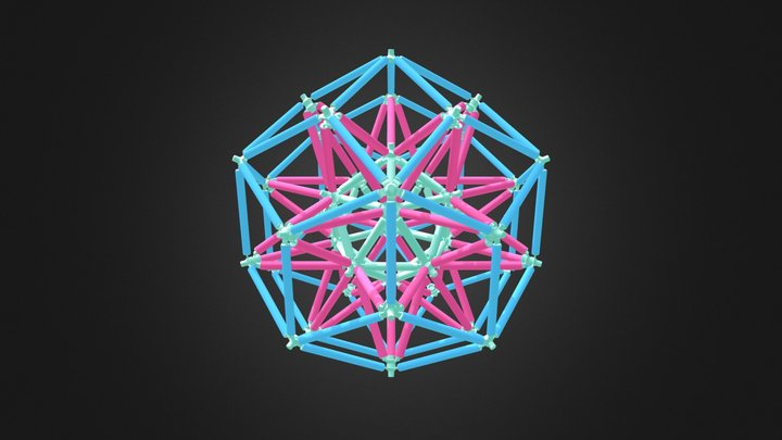 Stellated Icosahedron Rhombic Triacontahedron 3D Model