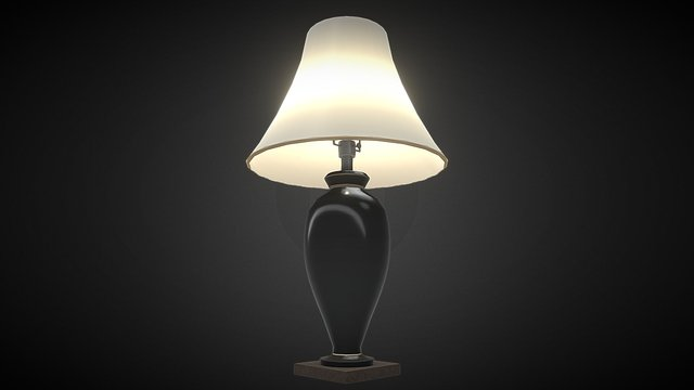 Table Lamp 01 3D Model