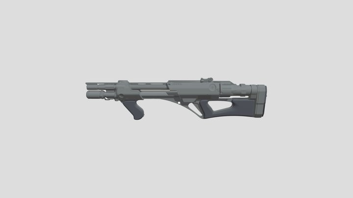 WIP_Shotgun_DABull* 3D Model