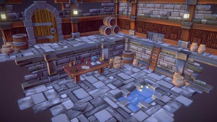 Dungeon Scene 3D Model