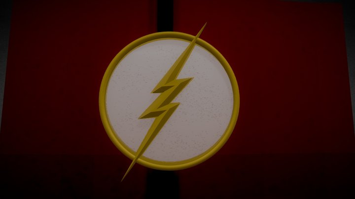 Low-Poly Flash Emblem 3D Model