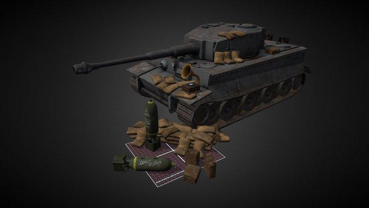 1DAE02_Antoine_Gérin_WW2_Props_Q_Week 3D Model