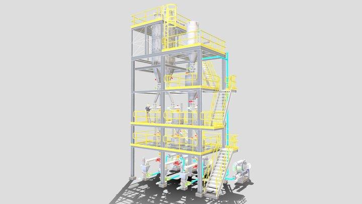 Tour de pesage et manutention 3D Model