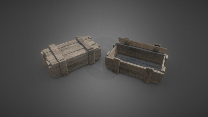 Military wooden Box 3D Model