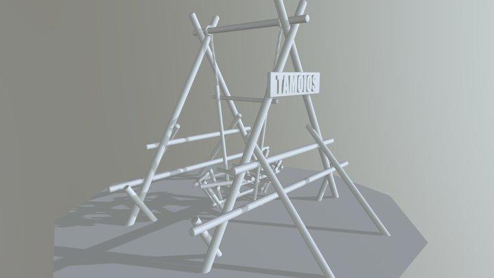 Barco Viking de Madeira. 3D Model