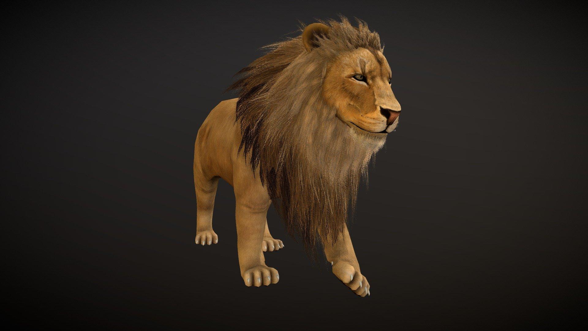 Lion - 3D model by menglow (@menglow ...