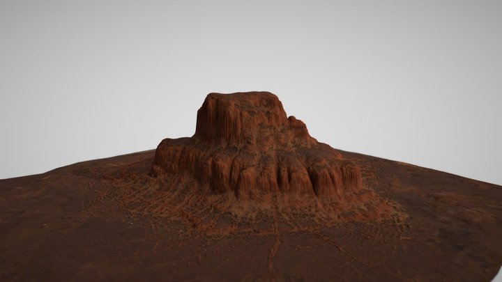 Red Canyon Landscape 3D Model