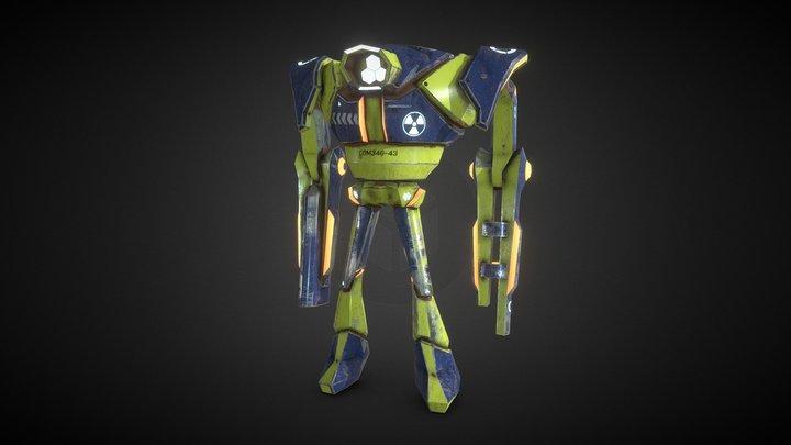 SciFi Robot Boss Enemy Elements video game PBR 3D Model