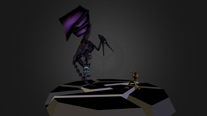 Samus Ridley Battle 3D Model