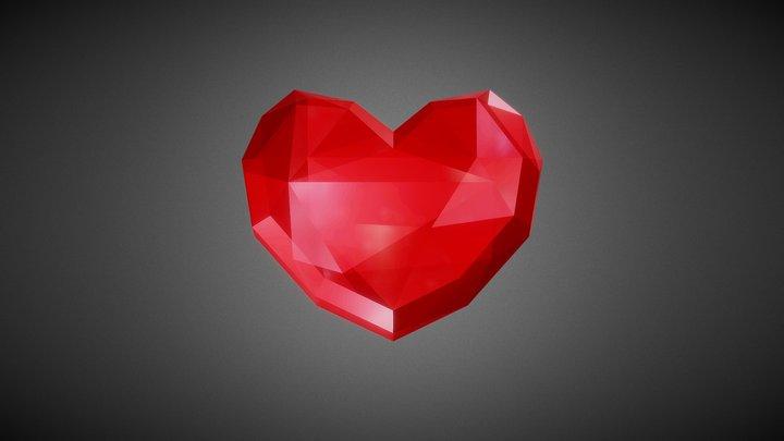 Heart Item Low Poly - Ruby - The Legend of Zelda 3D Model