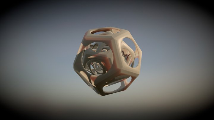 Animated Polyhedron 3D Model