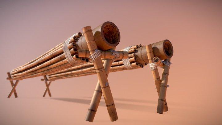 Bars Low Poly (kung fu panda) 3D Model