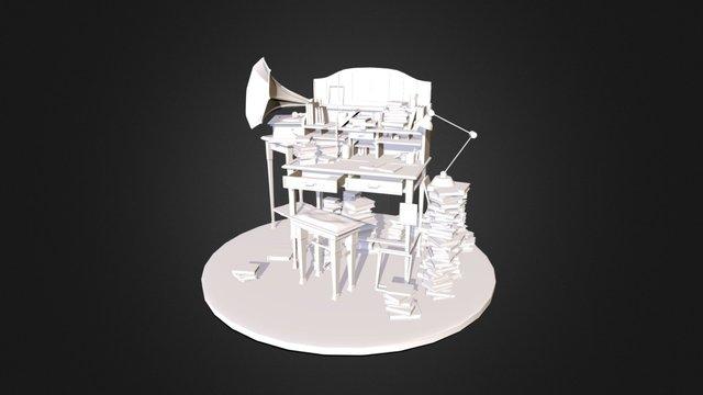 """Working hard"" - environment 3D Model"