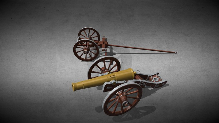 Cannon-GRIBEAUVAL 3D Model