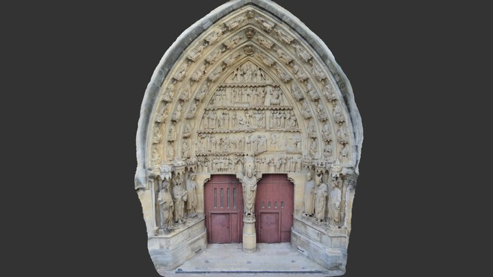 Reims Cathedral 3D Model
