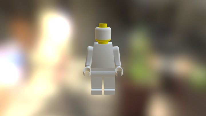 Lego Man Without Hat 3D Model