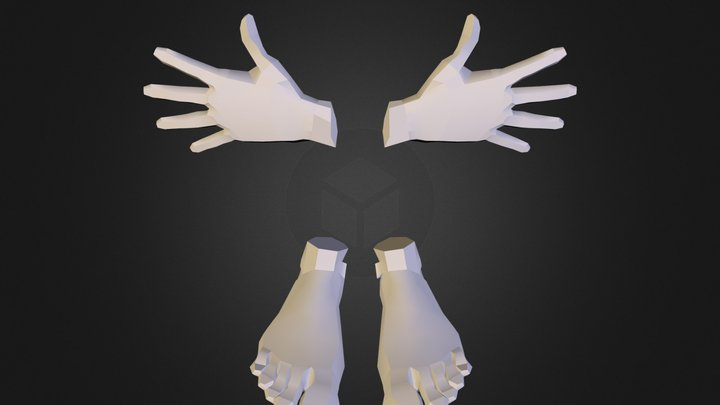 Base Hands Feet 3D Model