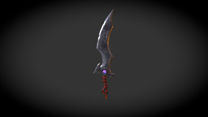 Stylized Sword, concept, for game 3D Model