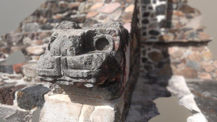 Jaguar At Teotihuacan Pyramids 3D Model