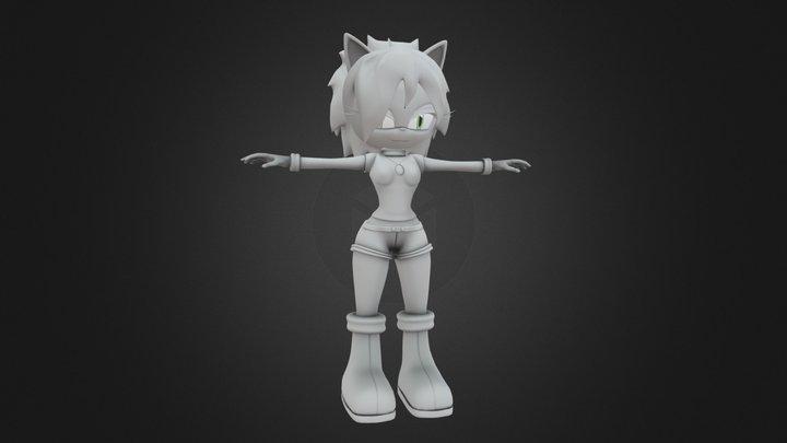 Tara The Scout Cat 3D Model