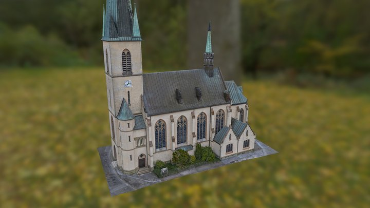 3D-Scan Kirche Ostinghausen Mobile Version 3D Model
