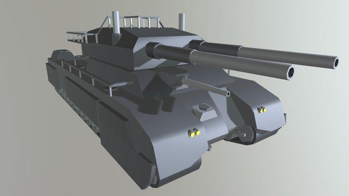Low Poly P1000 Tank 3D Model