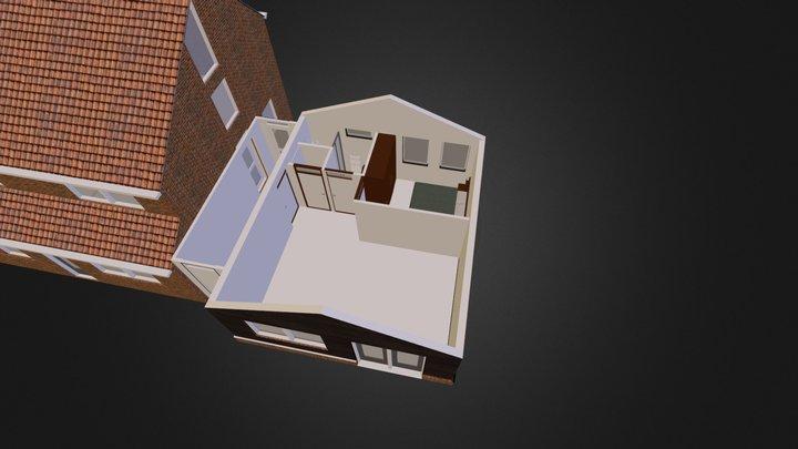 House Oud-Beierland extension interior (sketch) 3D Model