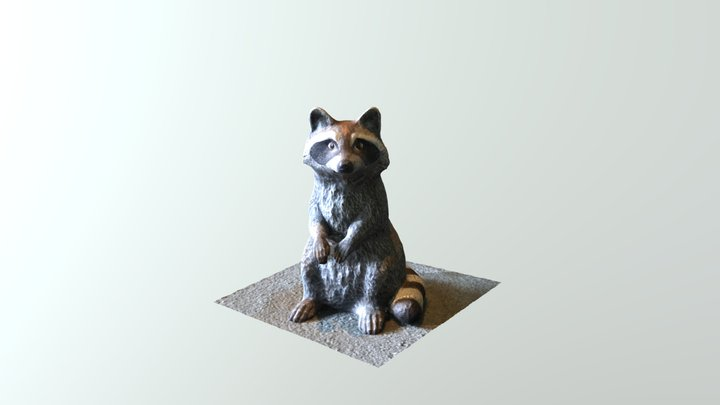 Raccoon Sculpture Scan (First Try) 3D Model